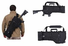 Tactical Rifle Scabbard AR15 M4 Rifle Holster Military Shoulder Carry Bag Black.