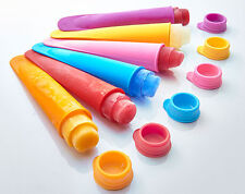 LOLLY MOULDS - SET OF 6 IN ASSORTED COLOURS - MAKE YOUR OWN HEALTHY LOLLIES