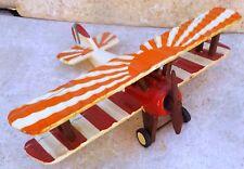 1:72 Scale WWI Allied Wooden Biplane Fighter Plane Desk Display Model