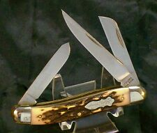 Schrade 897 Staglon Stockman Knife Circa-1980's Usa Made Great Walk & Talk Nice