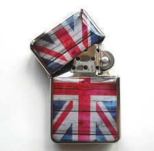 Britannia UNION JACK Metal LIGHTER UK British Flag London England GB Souvenirs