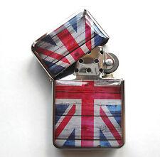 Britannia UNION JACK Metal LIGHTER UK British Flag London England GB Souvenirs