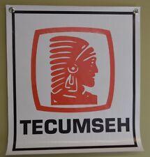 Tecumseh Engine Banner Sign Mower Repair Shop Advertising Logo Free Shipping