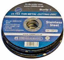 5 X BLUESPOT THIN METAL CUTTING DISCS 19666 STAINLESS