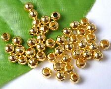Gold Silver Bronze Copper 2MM 3MM 4MM 5MM 6MM 7MM 8MM Round Metal Spacer Beads