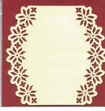 Luxury Card Layer Punch Cards, set of 3, Oval Cream, Poinsettia  BPM5717