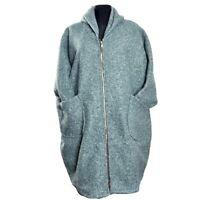 Boucle Wollemantel Mantel Lagenlook Mint Grün Plus Size 48 50 52 54 56 58 60 XXL