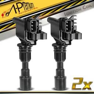 2x Ignition Coils Pack for Mazda 323 Protege BJ Ford Laser KN KQ 1.6L 1998-2003