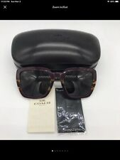 COACH WOMAN,S PLUM 57 mm SUNGLASSES WITH COACH CASE BRAND NEW IN CASE