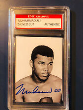 Muhammad Ali autographed trading card Graded