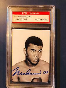 Muhammad Ali autographed trading card Graded