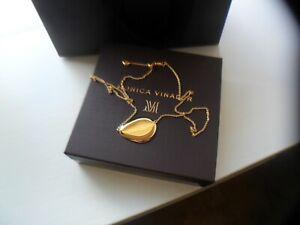 NEW WITH TAGS MONICA VINADER 18CT GOLD VERMEIL NURA LARGE PEBBLE NECKLACE  £170