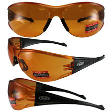FULL THROTTLE BY GLOBAL VISION SAFETY SUNGLASSES ORANGE FRAME ORANGE LENS