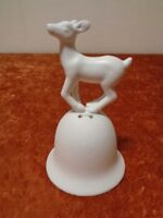 Porcelain Table Bell with Animal Figurine - Deer