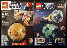 Lego Star Wars 9674 9675 Naboo & Tatooine planets with mini figs series 1 (NEW)