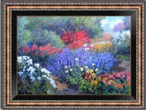 "Hand painted Original Oil Painting Landscape art Flower on canvas 24""x36"""