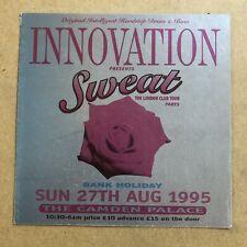 Innovation rave flyer sweat camdan palace 27.08.95