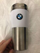 BMW Travel Mug by Savor Premium Drink Ware BMW Authorized Accessory -WHITE 14oz.