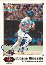 EUGENE GENE KINGSALE SCOTTSDALE SCORPIONS SIGNED CARD ORIOLES TIGERS MARINERS