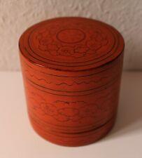schöne antike 3 teilige Lacquerware Dose für Betelnuß - Burma / Myanmar um 1900