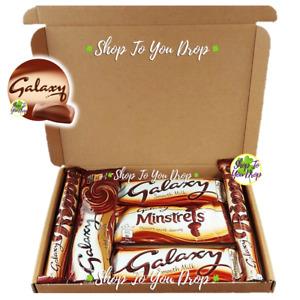 🍫GALAXY MILK CHOCOLATE PERSONALISED HAMPER Ripple Minstrels Hot Choc Gift Box🎁