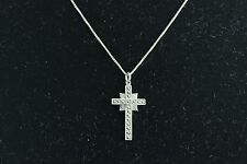 Sterling Silver Cross Pendant and Chain Necklace 19 inch