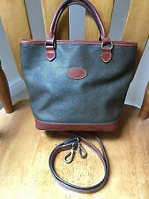 Vintage Mulberry mole brandy Scotchgrain Hellier tote bag + shoulder strap