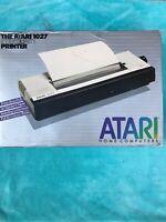 Vintage Atari 1027 Letter Quality Printer UNTESTED No Power Cord