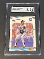1988 Fleer Update Glossy John Smoltz RC SGC 8.5 Rookie Undergraded PSA ?