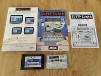 SUPER SYNTH FOR MSX - CARTRIDGE & TAPE COMPLETE - CROSS MEDIA JAPANESE Music
