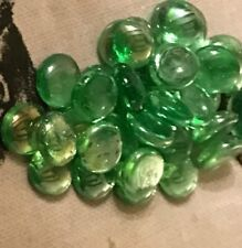 20 x AQUA GREEN Glass Pebbles Stones Gems Tiles Nuggets Pebble Marbles
