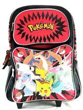 """New Arrival Nintendo Pokemon Pikachu & Friends 16"""" School Rolling Backpack"""