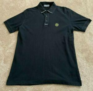 Stone Island Short Sleeve Polo Black Slim Fit  Size XL