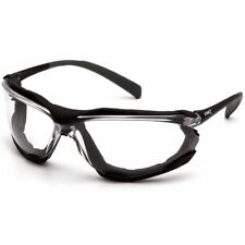 Pyramex Proximity Safety Glasses Foam Padded Black Frame Clear Anti-Fog Lens