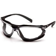 Pyramex Proximity Safety Glasses Foam Padded Black Frame Clear Anti Fog Lens