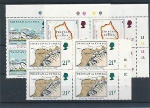 [21817] Tristan Da Cunha Good lot in blocks of 4 stamps very fine MNH