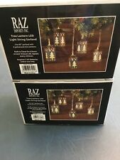 "Tree Lantern LED Light String Garland Built-in Timer - 2-80"" sets NEW"