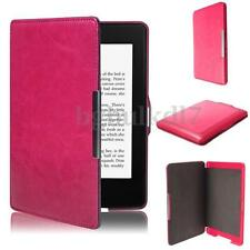Slim Magnetic Case Leather Smart Cover for Amazon for Kindle Paperwhite 1 2 3 Rose