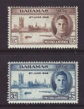 1946 Bahamas Victory Set Mounted-Mint.