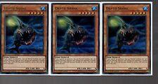 YUGIOH Carte-Playset di 3x ULTRA RARA HOLO-Profondità SQUALO SARDO-en003