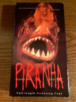 Piranha (VHS, 1996) Horror Scary Movie Vintage CIB VCR Tape RARE