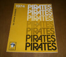 1974 PITTSBURGH PIRATES OFFICIAL SCOREBOOK vs MONTREAL