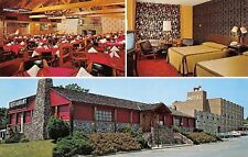 Frederick MD~The Red Horse on Roof~Motel~Rutic Restaurant~Stone Fireplace~1970s