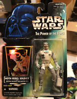 Star Wars Power of the Force Hoth Rebel Soldier new on new card 1996