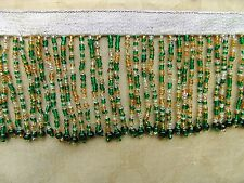 """BTY Colorful 2 3/4"""" All Glass Beaded Fringe Trim ~ Lampshades ~ CHOICE of COLORS"""