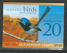 AUSTRALIA 2001 DESERT BIRDS BOOKLET OF 20 UNMOUNTED MINT 1 KOALA REPRINT