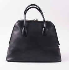 New $3450 TOM FORD Black Leather 'Trapeze' Overnight Duffle Bag Carryall