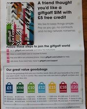 giffgaff O2 Nano/Micro/Standard SIM FREE £5 Credit - Unlimited Data Texts Calls!