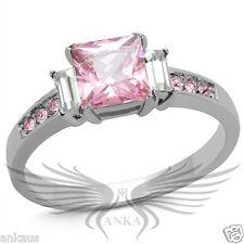 Ring 5 6 7 8 9 10 Tk2169 Brilliant 1.2ct Princess Cubic Zircon Cz Aaa Engagement