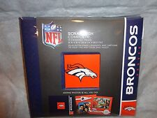 "DENVER BRONCOS TEAM LOGO SCRAPBOOK COMPLETE KIT 8""X8"" NFL W EMBELISHMENTS"